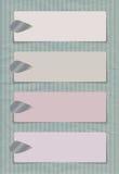 Bannières avec les agrafes argentées Photographie stock