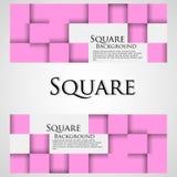 Bannières avec les cubes roses Photo libre de droits