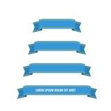 Bannières bleues de ruban de Web réglées Image stock