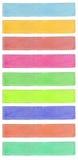 Bannières colorées illustration libre de droits