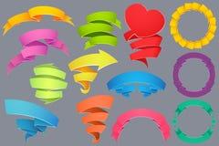 Bannières colorées Image libre de droits