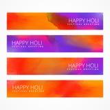 Bannières colorées de holi réglées Images stock