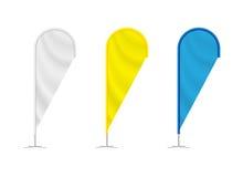 Bannières colorées de larme de plage Images libres de droits