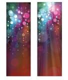 Bannières colorées de scintillement de vecteur Photographie stock libre de droits