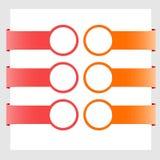 Bannières colorées modernes illustration de vecteur