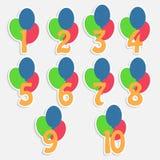 Bannières colorées pour l'anniversaire des enfants illustration stock