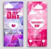 Bannières colorées pour la Saint-Valentin Photographie stock libre de droits