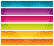 Bannières commerciales tramées colorées. Photo stock