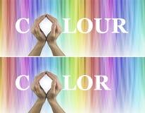 Bannières curatives de site Web de thérapie de couleur X 2 Photographie stock libre de droits