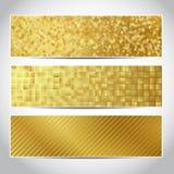 Bannières d'or à la mode Image stock
