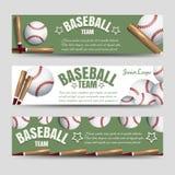 Bannières d'équipe de baseball Image stock
