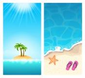 Bannières d'été - vacances exotiques Image stock