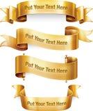 Bannières d'or Photo libre de droits