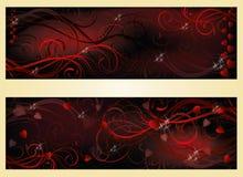 Bannières d'amour de jour de valentines Photographie stock