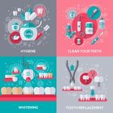 Bannières d'art dentaire réglées illustration libre de droits