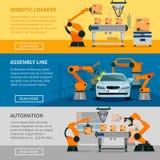 Bannières d'automation réglées illustration libre de droits