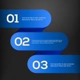 Bannières 3D bleues lumineuses de vecteur réglées Photographie stock