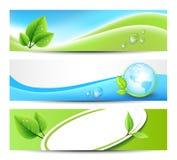 Bannières d'Eco Images stock