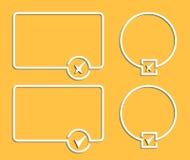Bannières d'ensemble avec la confirmation de coches Image libre de droits