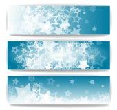 Bannières d'hiver Photo libre de droits