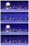 Bannières d'hiver Photo stock