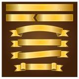 Bannières d'or - illustration Photographie stock libre de droits