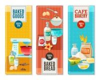 Bannières d'ingrédients de cuisson Photo libre de droits
