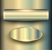 Bannières 3D métalliques Photos stock