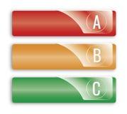 Bannières d'options d'ABC illustration libre de droits