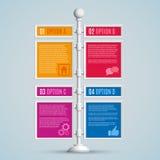 Bannières d'options d'Infographics Photos stock