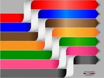 Bannières d'options de style d'origami d'Infographics Photo stock