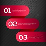 Bannières 3D rouges lumineuses de vecteur réglées Photographie stock libre de droits