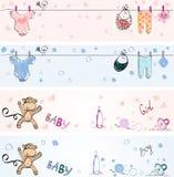 Bannières de bébés Photographie stock libre de droits