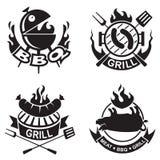 Bannières de barbecue Photographie stock