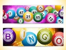 Bannières de boule de bingo-test illustration stock