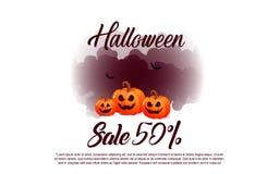 Bannières de calibre de Halloween dans le style moderne plat illustration de vecteur