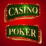 Bannières de casino Photos libres de droits