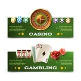 Bannières de casino réglées Illustration Libre de Droits