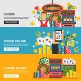 Bannières de casino réglées Illustration Stock