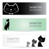 Bannières de chat Photographie stock