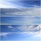 Bannières de ciel Photo libre de droits