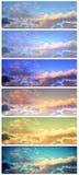 Bannières de ciel Photo stock