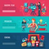 Bannières de cinéma réglées Image stock