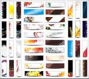 Bannières de collection de mélange Photographie stock libre de droits