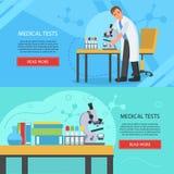 Bannières de concept de laboratoire médical Photographie stock