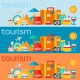 Bannières de concepts de voyage Photos libres de droits
