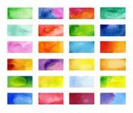 Bannières de couleur dessinées avec des marqueurs du Japon Éléments élégants pour la conception Course de marqueur de vecteur illustration stock