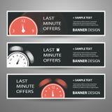 Bannières de dernière minute d'offre pour votre publicité Photos libres de droits
