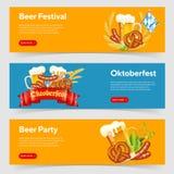 Bannières de festival de bière d'Oktoberfest Image stock