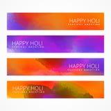 Bannières de festival de Holi Photo libre de droits